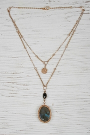 Vahe Twisted Labradorite Stone Necklace - Product Mini Image