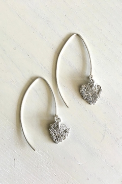 Vahe Twisted Silver Dangler Earrings - Alternate List Image