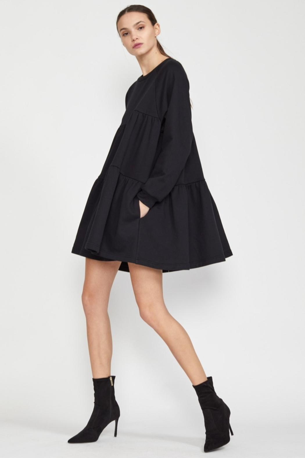 Cynthia Rowley Vail Cozy Swing Dress - Side Cropped Image