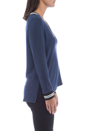 Bobeau Val Varsity Cozy Vneck Top - Front full body