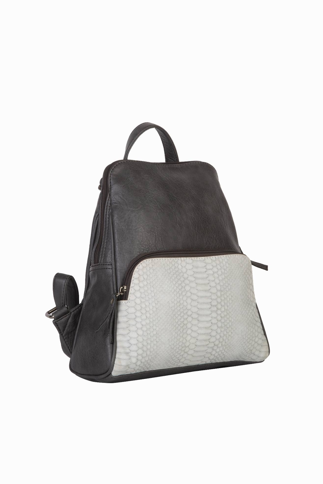Mona B Vale Vegan Leather Convertible Backpack - Front Full Image
