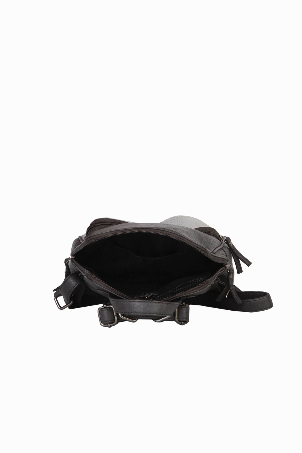 Mona B Vale Vegan Leather Convertible Backpack - Back Cropped Image