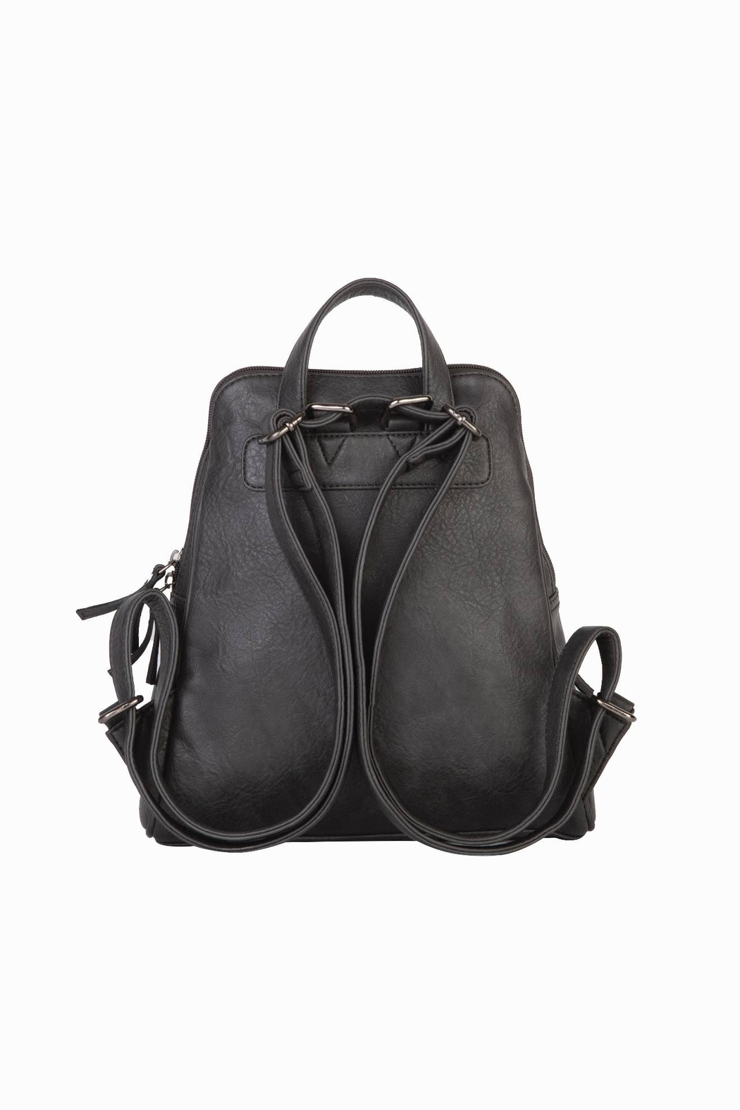 Mona B Vale Vegan Leather Convertible Backpack - Side Cropped Image