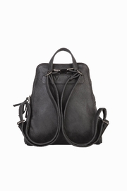 Mona B Vale Vegan Leather Convertible Backpack - Side cropped