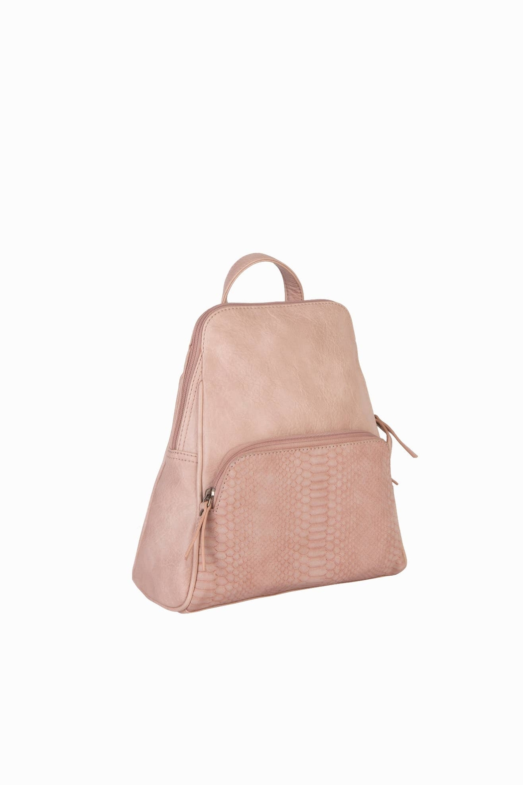 Mona B Vale Vegan Leather Convertible Backpack - Front Cropped Image
