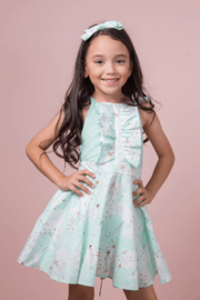 Mandy by Gema Valentina Dress Mermaid Aqua - Front cropped