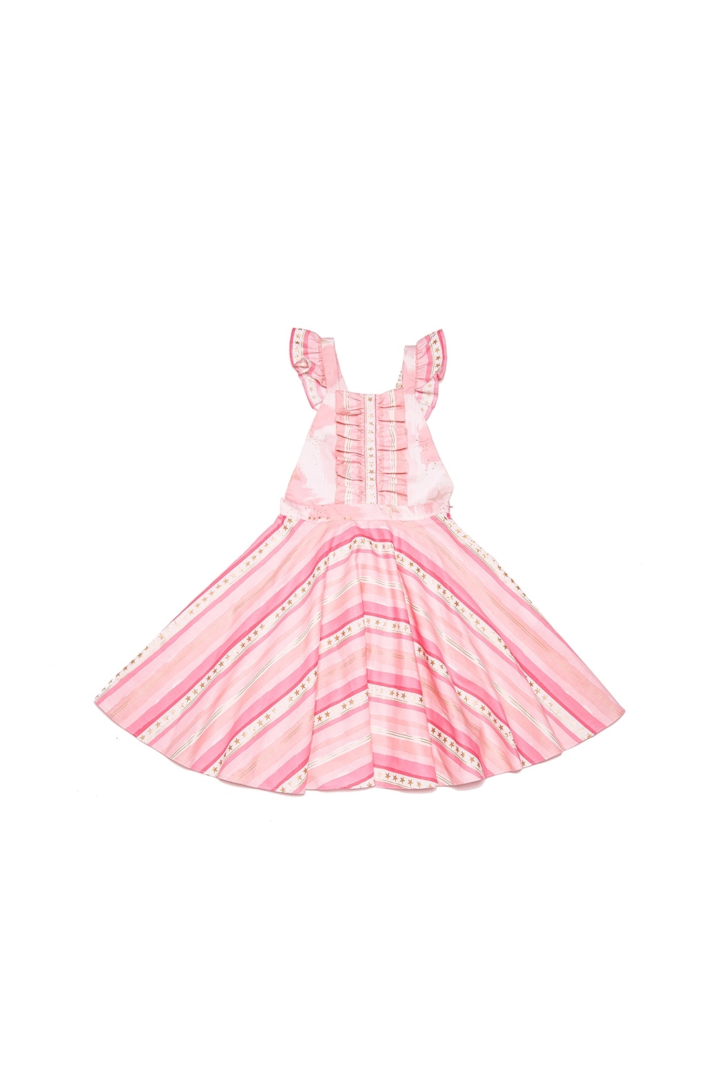 Mandy by Gema Valentina Dress Stripes and Stars Pink - Side Cropped Image