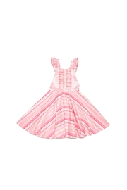 Mandy by Gema Valentina Dress Stripes and Stars Pink - Side cropped