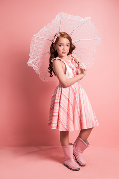 Shoptiques Product: Valentina Dress Stripes and Stars Pink