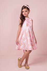 Mandy by Gema Valentina Dress Unicorn Forest Pink - Front cropped