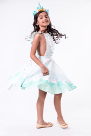 Mandy by Gema Valentina Dress Unicorn Parade Mint - Front cropped