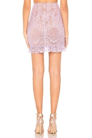 FOR LOVE & LEMONS Lace Mini Skirt - Back cropped