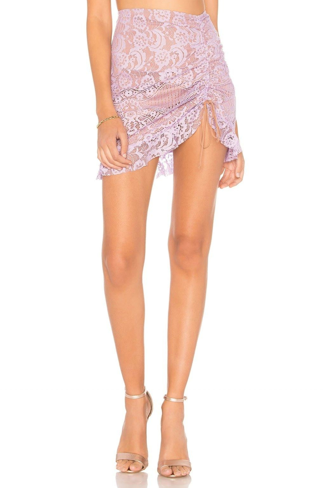 FOR LOVE & LEMONS Lace Mini Skirt - Front Full Image