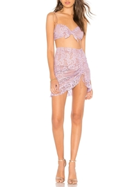 FOR LOVE & LEMONS Lace Mini Skirt - Front cropped