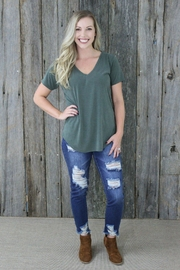 Another Love Valentina Olive Vneck - Product Mini Image