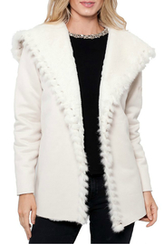 love token Valentina Suede Jacket w Fur Trim/Lining - Product Mini Image