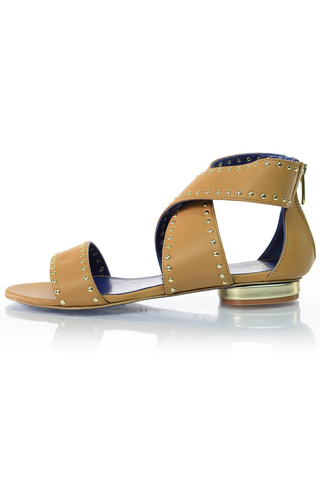 Valentina Tan Leather Sandal - Main Image