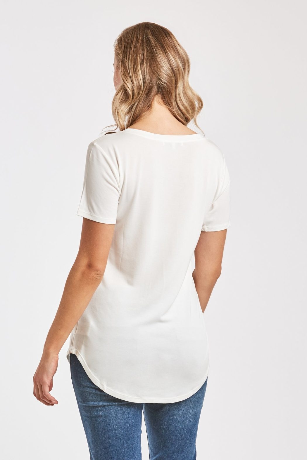 Another Love  Valentina V-Neck Tee - Front Full Image