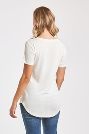Another Love  Valentina V-Neck Tee - Front full body