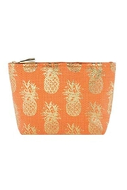 The Birds Nest VALENTINA ZIP POUCH-CORAL - Product Mini Image