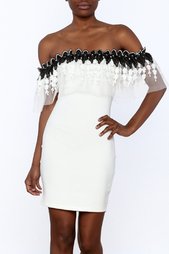 Shoptiques Product: Crochet Trim Dress