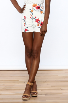 Shoptiques Product: White Floral Shorts