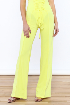 Shoptiques Product: Yellow High Waist Pants