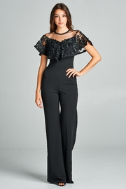 Valentine Lace Detail Jumpsuit - Product Mini Image