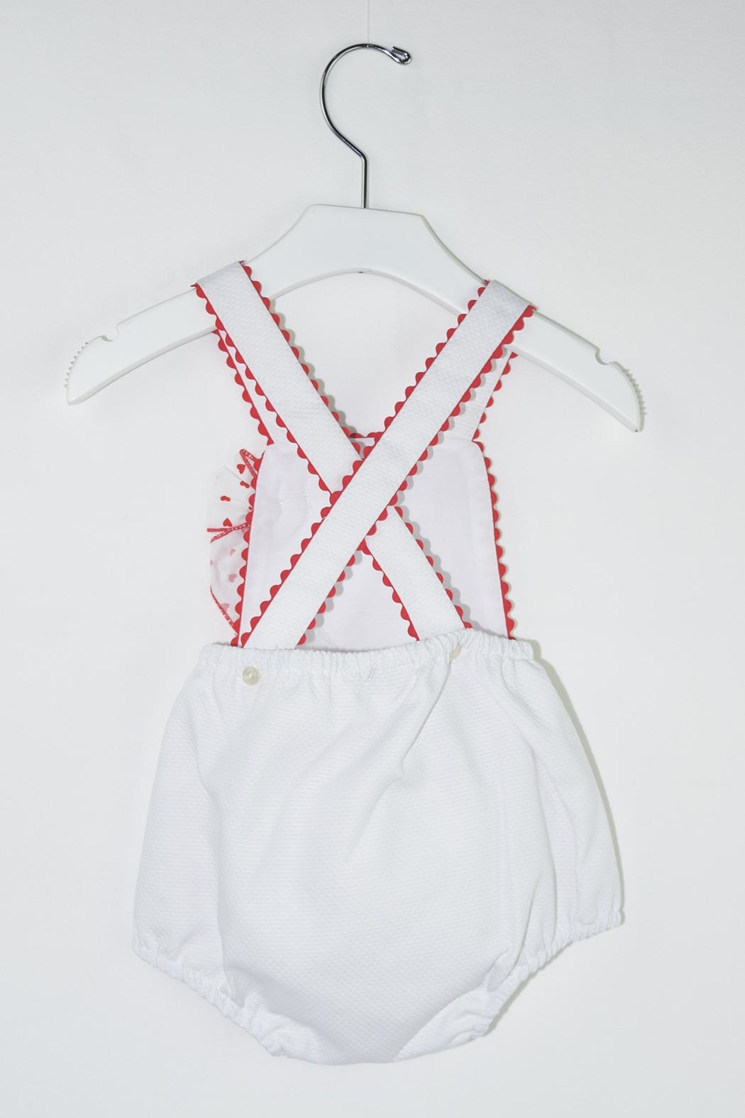 Dolce Petit Valentine's Day Romper - Front Full Image