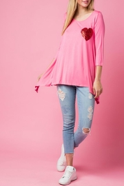 Lovely J Valentine Solid Top - Front cropped