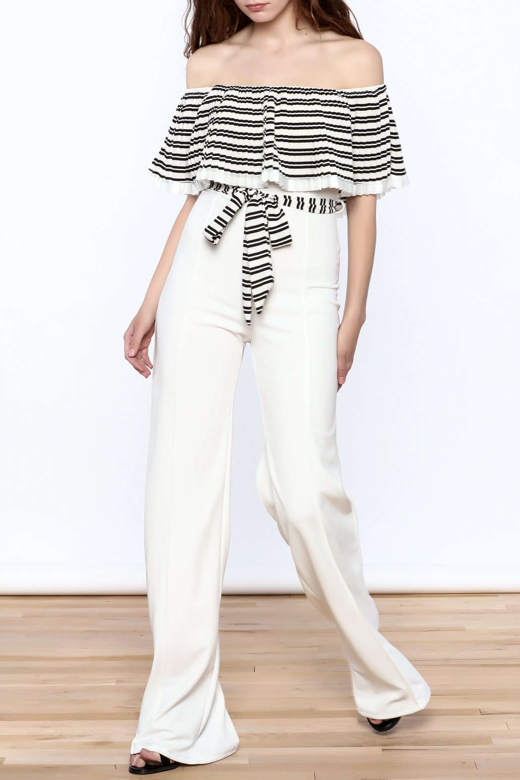 Valentine Striped Top Jumpsuit - Main Image