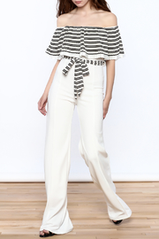 Valentine Striped Top Jumpsuit - Front full body