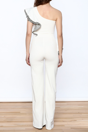Valentine White Ruffle Jumpsuit - Back cropped