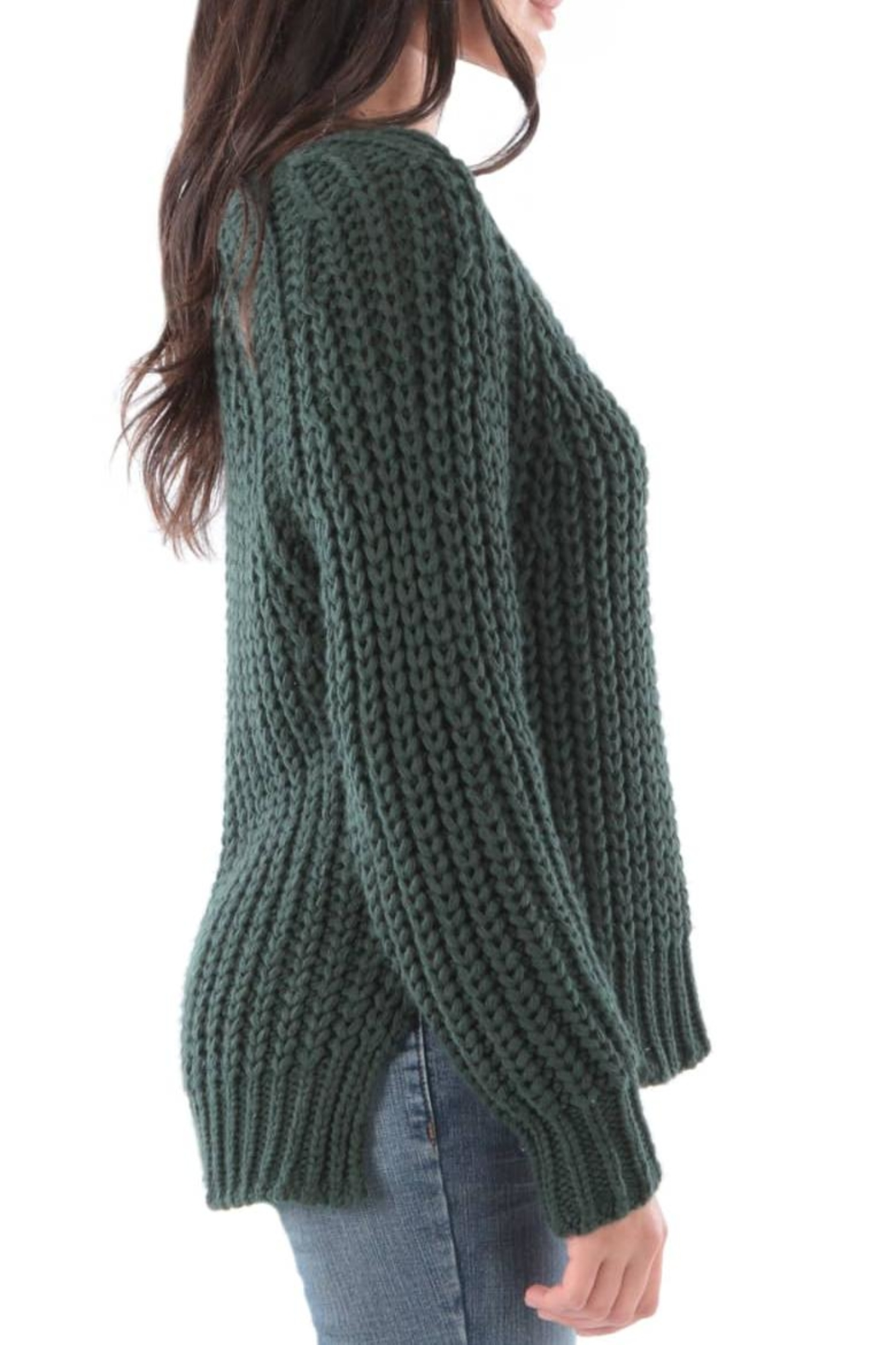 Kut from the Kloth Valeria Chunky Sweater - Side Cropped Image