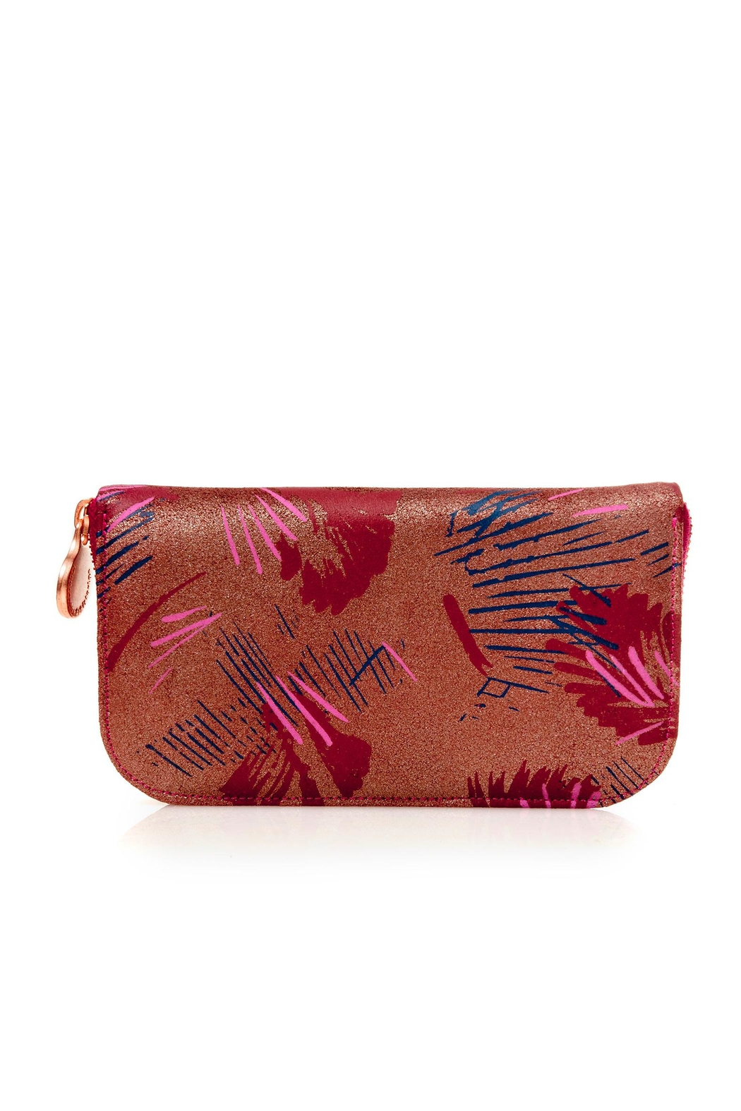 Valeria Nicali Brushstrokes Suede Wallet - Front Cropped Image