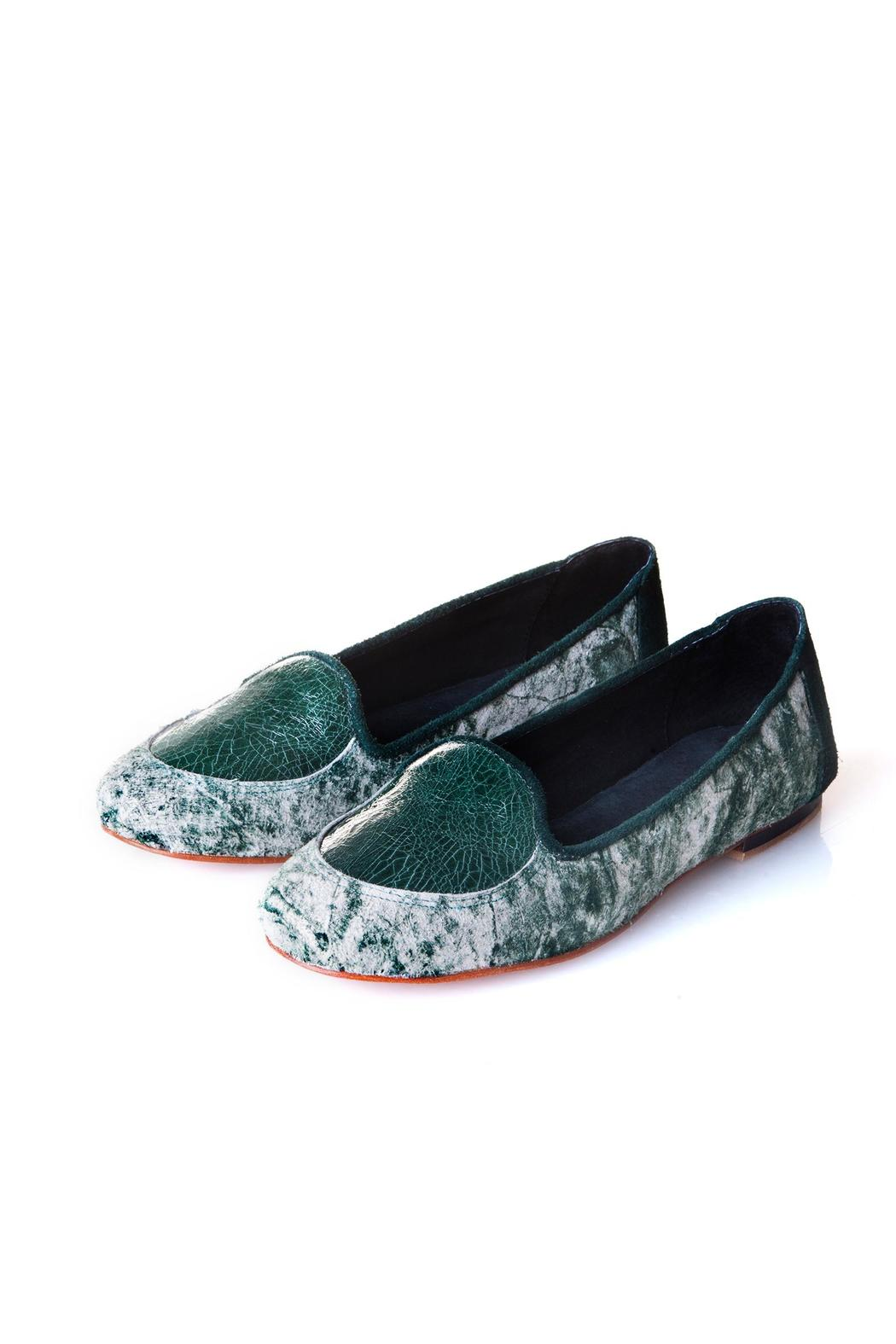 Valeria Nicali Green Wichí Slipper - Front Cropped Image