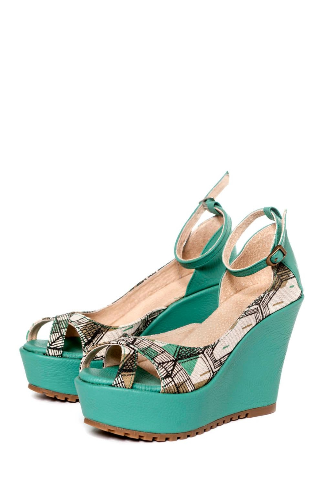 Valeria Nicali Tejido Wedge Sandal - Front Cropped Image