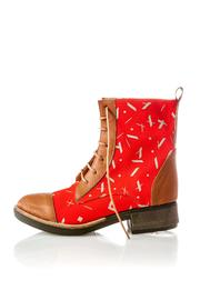 Valeria Nicali Guaraní Laceup Boot - Front full body