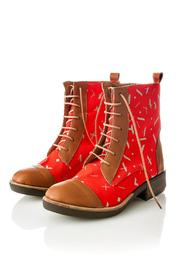 Valeria Nicali Guaraní Laceup Boot - Front cropped