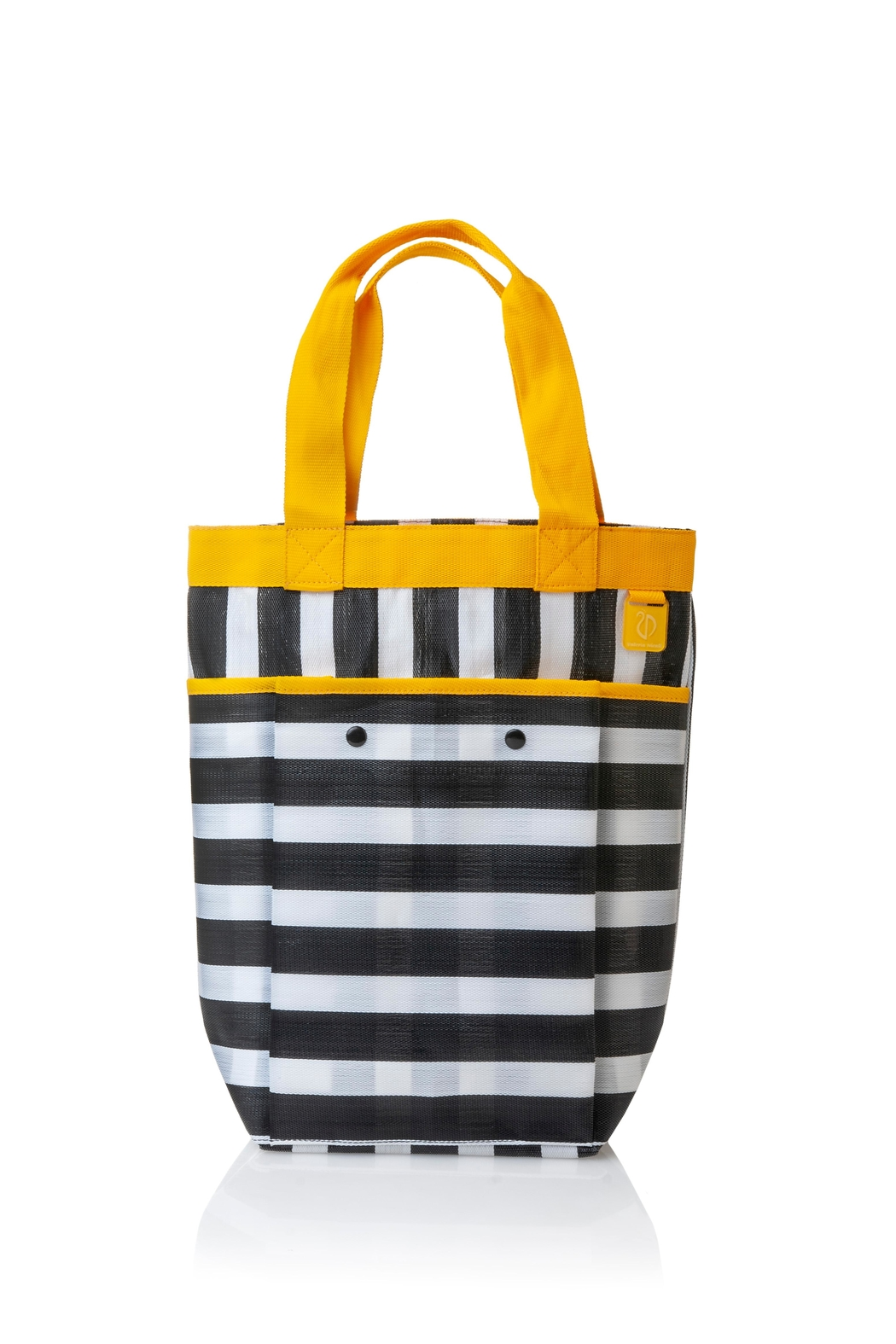 Valeria Nicali Yellow Rafia Tote - Front Cropped Image