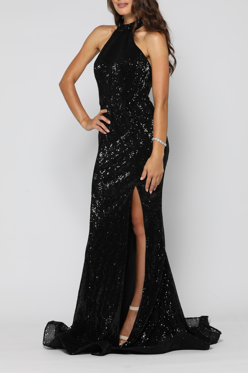 YSS the Label Valerie Gown Black - Front Full Image
