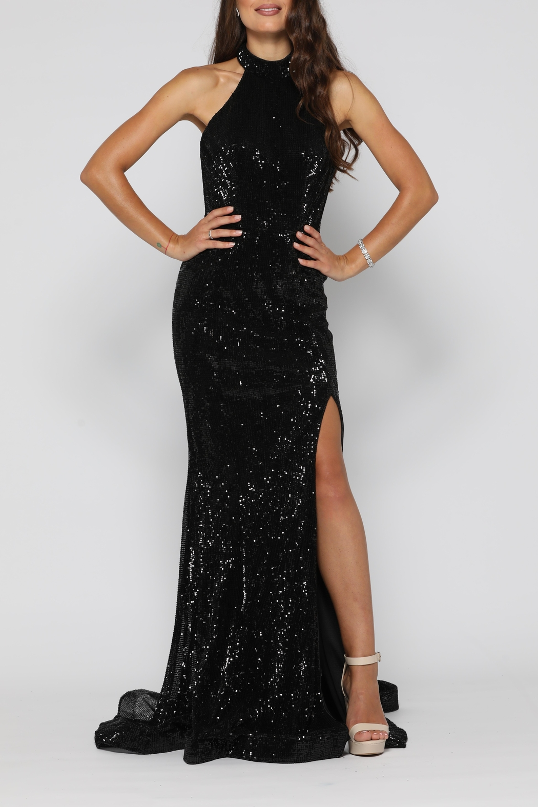YSS the Label Valerie Gown Black - Main Image