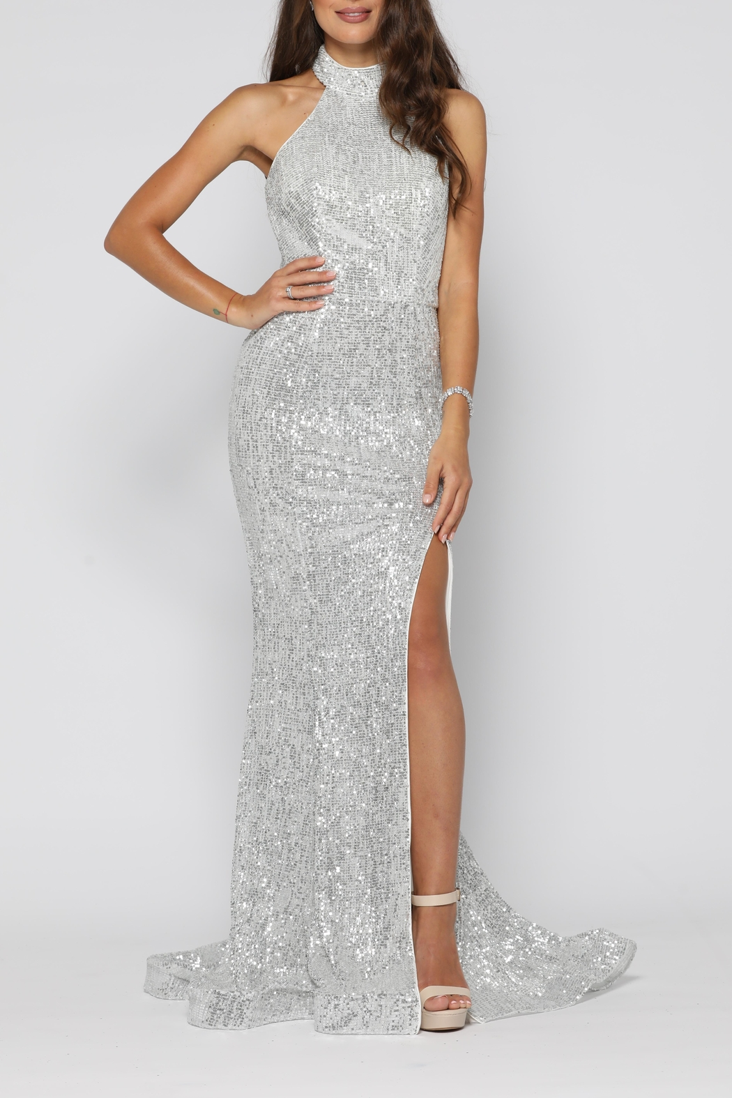 YSS the Label Valerie Gown Silver - Main Image