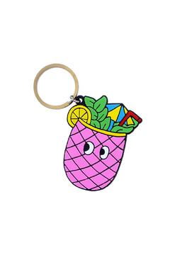 Shoptiques Product: Pineapple Drink Keychain