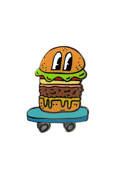 Shoptiques Product: Skateboarding Hamburger Pin