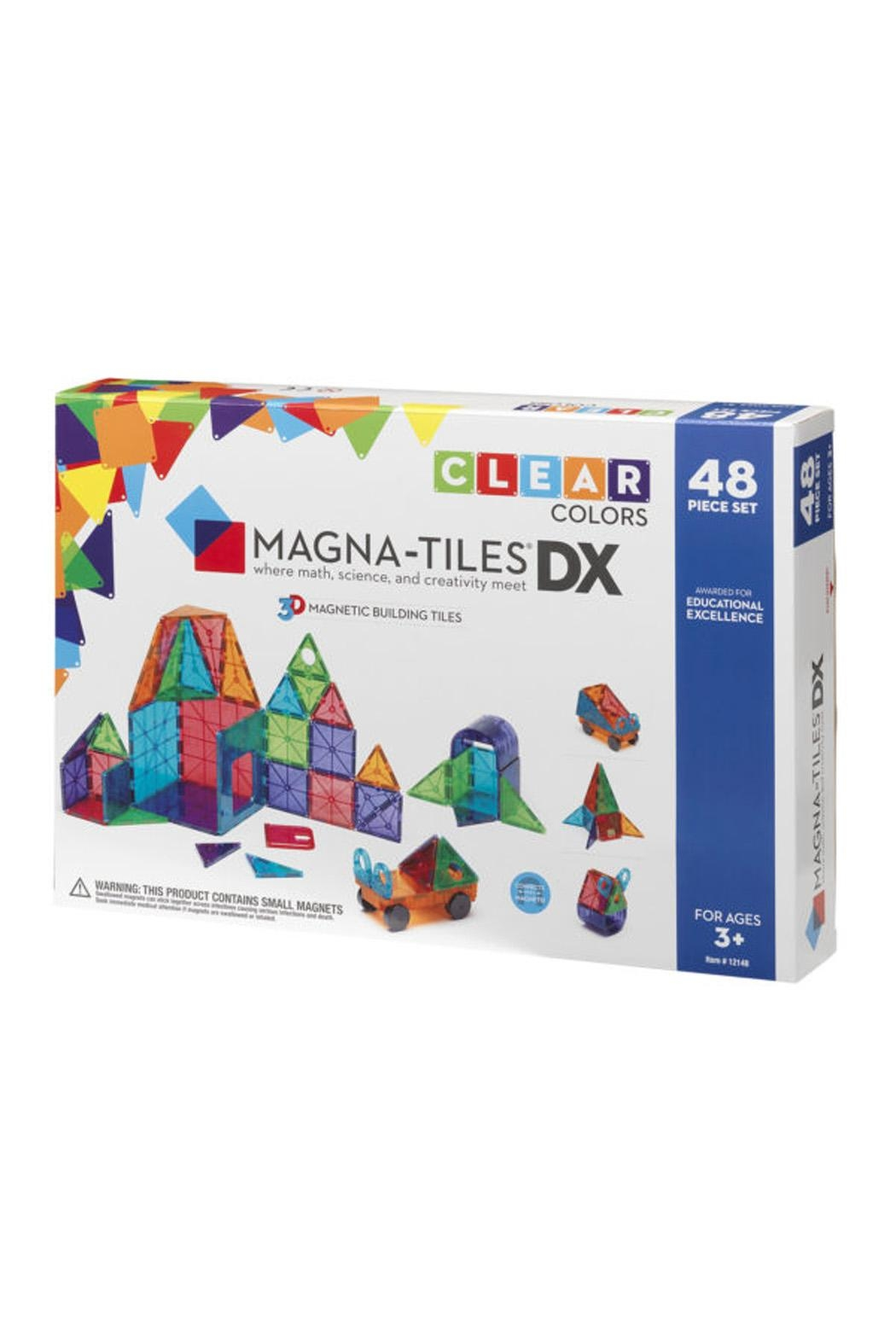 Valtech - MagnaTiles Clear Colors 48 Piece - Front Cropped Image