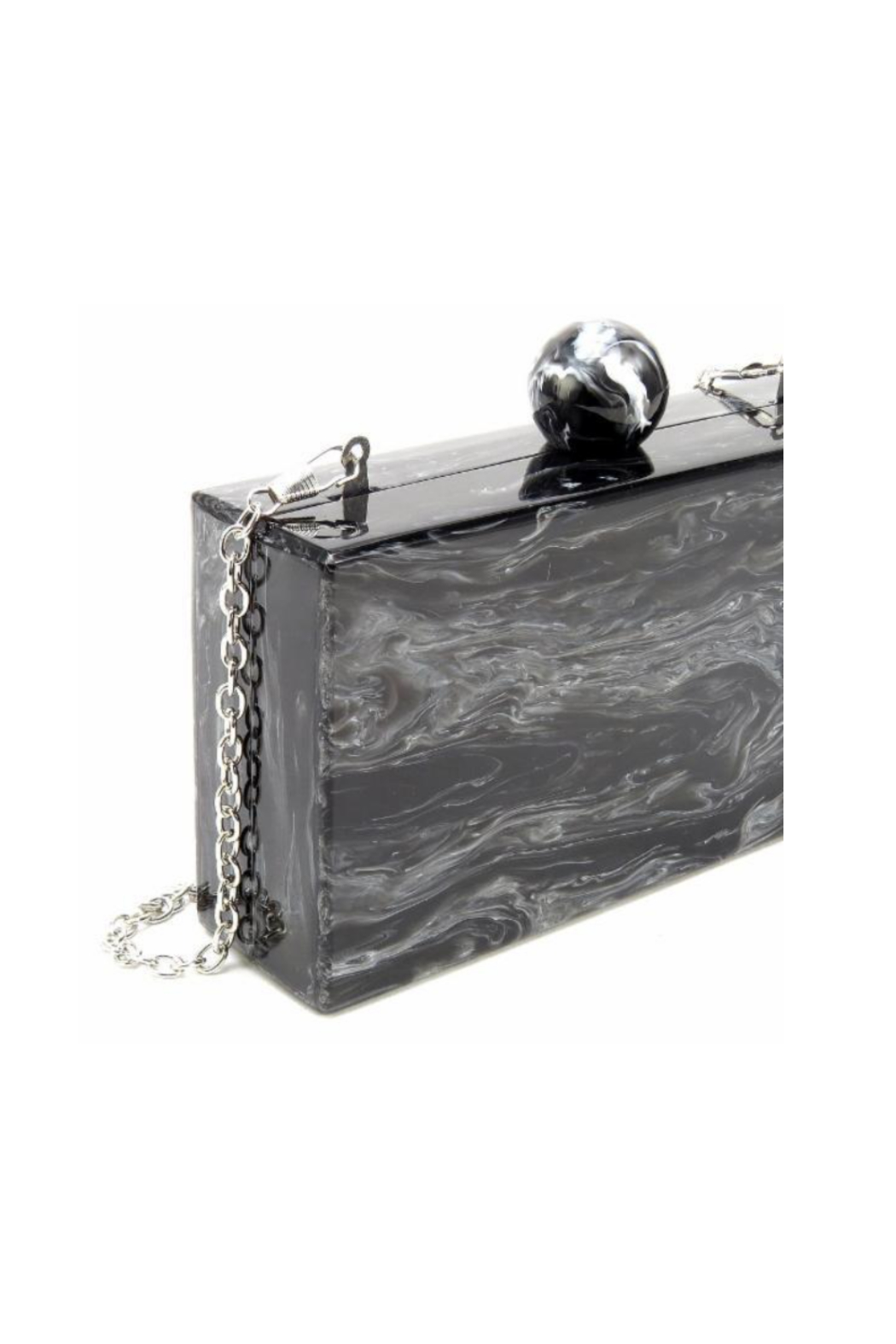 Like Dreams VALYN MARBLE KNOB EVENING CLUTCH - Front Full Image