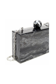 Like Dreams VALYN MARBLE KNOB EVENING CLUTCH - Front full body