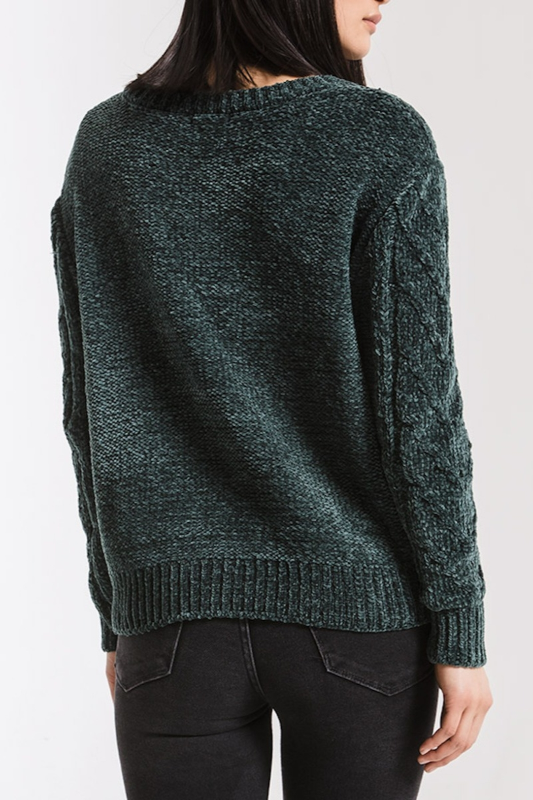 rag poets VanBrunt Cable Sweater - Front Full Image
