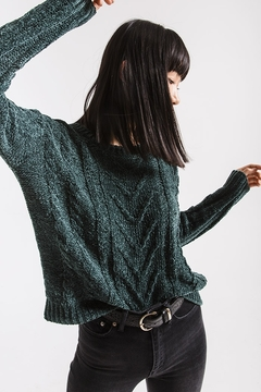 rag poets VanBrunt Cable Sweater - Alternate List Image